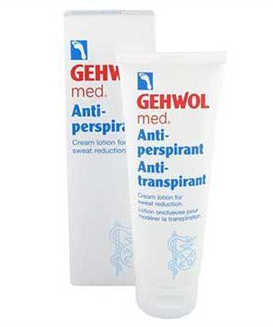 Fotkräm mot Fotsvett Gehwol Antiperspirant