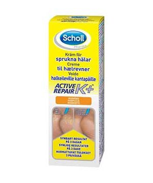 bäst fotkräm mot hälsprickor Scholl Active Repair K+